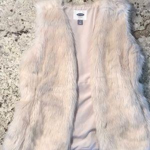 Old Navy faux fur vest!